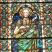 Keresztelő Szent János üvegablak