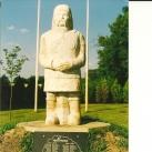 Kun előkelő szobra