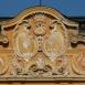 A görgői Görgey-Csáky kastély park felőli homlokzatának díszítése