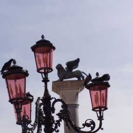Szárnyas Oroszlán a Szent Márk téren