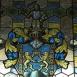 A tiszadobi kastély lépcsőházának üvegablakai
