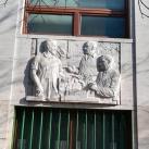 Építész megbeszélése a szobrásszal