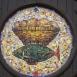 Mozaik a görög katolikus templom bejárata fölött