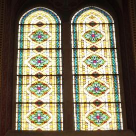 A templomhajó legfölső ablakai
