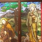 Alkantarai Szent Péter és Cortonai Szent Margit üvegablak