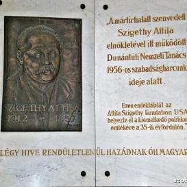 Szigethy Attila-emléktábla