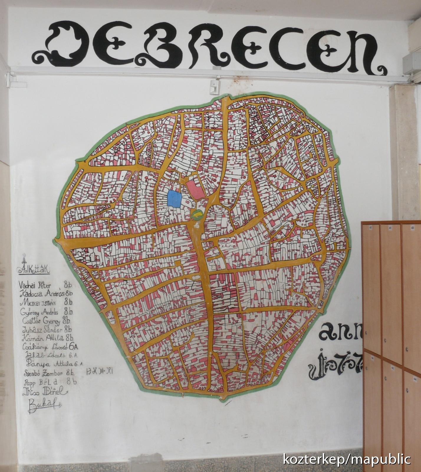 Debrecen Terkepe 1771 Kozterkep