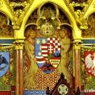 Országház - Az Elnöki emelvény mögötti címersor