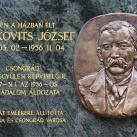 Greskovits József-domborműves emléktábla