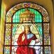 Szent Mihály-templom festett üvegablakai