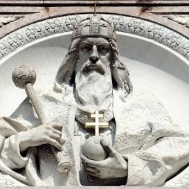 Szent István-bazilika szobrai: Szent István tondó