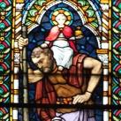 Szent Kristóf üvegablak
