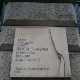 Bilicsi Tivadar-emléktábla
