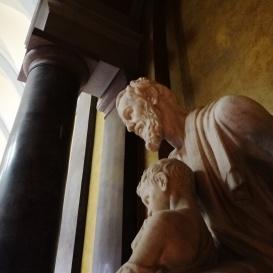 Munkás Szent József a gyermek Jézussal