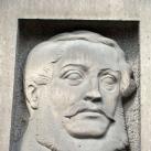 Kossuth Lajos domborműves emléktáblája (utcatábla)