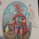 Szent Flórián falfestmény