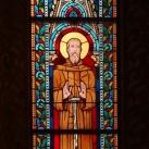Mátyás-templom szentélyének üvegablakai (alsó sor) 1.