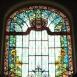 A Kőrössy villa lépcsőcsarnokának üvegablaka