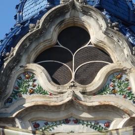 A volt Pannónia szálló szecessziós díszítése