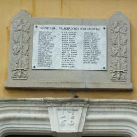 Ecser I. világháborús hősi halottainak emléktáblája