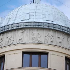 Egykori Magyar Királyi Folyam- és Tengerhajózási Rt székház homlokzatdíszei