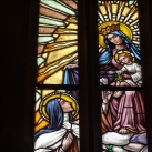 Tolcsvai római katolikus templom üvegablakai 1.