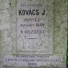 Kovács J. honvéd sírja