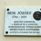 Bem József domborműves emléktábla