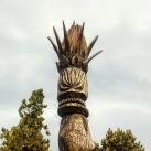 Kopjafa a parkban