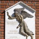 Domborműves emléktábla az ecsenyi sváboknak