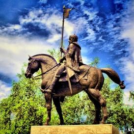Szent István lovasszobra