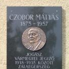 Czobor Mátyás-emléktábla