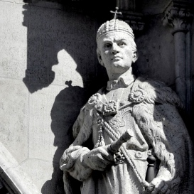 Országház - nyugati homlokzat: I. Béla