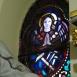 A Rózsafüzér királynéja templom urnatemetője üvegablakai