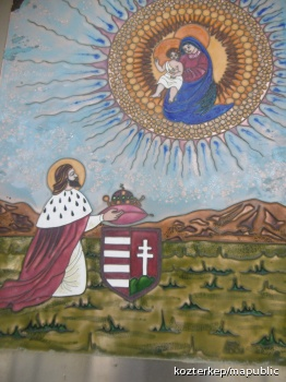 Szent István-képoszlop