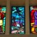 I. számú ravatalozó: Attila temetése: nyugati oldali üvegablakok