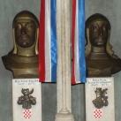 Zrínyi Péter és Frangepán Ferenc Kristóf mellszobra