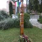 Kopjafa a németek kitelepítésének emlékére