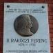 II. Rákóczi Ferenc domborműves emléktábla