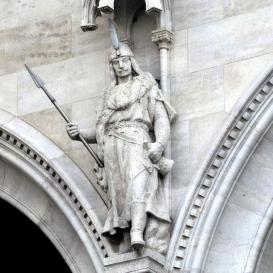 Országház - nyugati homlokzat: Zsolt fejedelem
