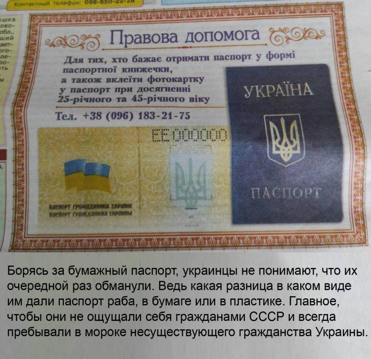 Украинцы хотят бумажный паспорт мигранта