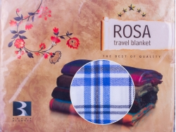 Плед в синюю клетку, Rosa travel blanket, (Турция)