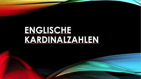 Englische Kardinalzahlen