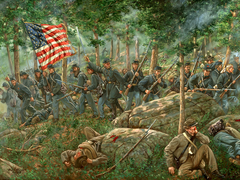 Chamberlain Leads Charge at Little Round Top