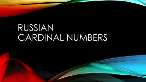 Russian Cardinal Numbers