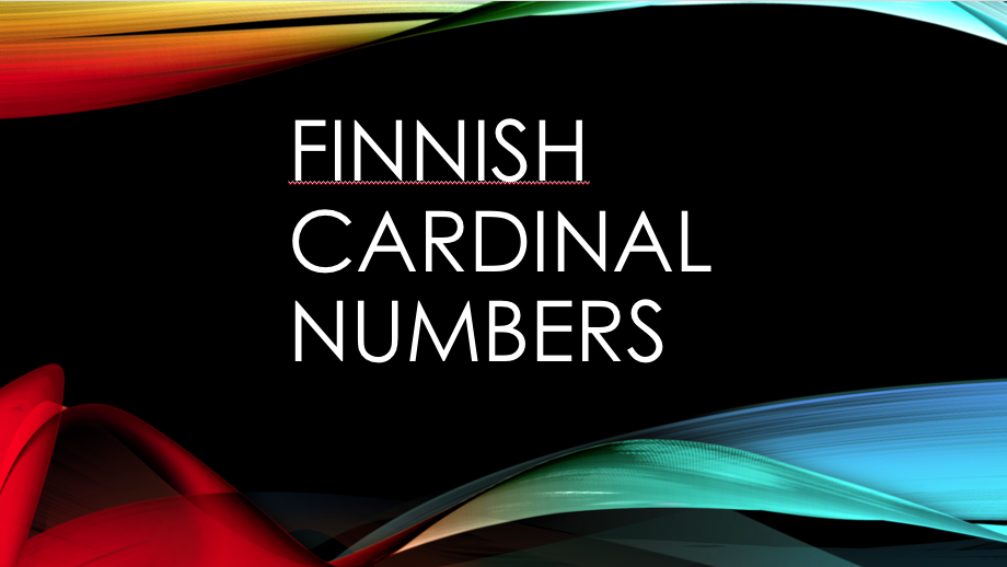 Finnish Cardinal Numbers
