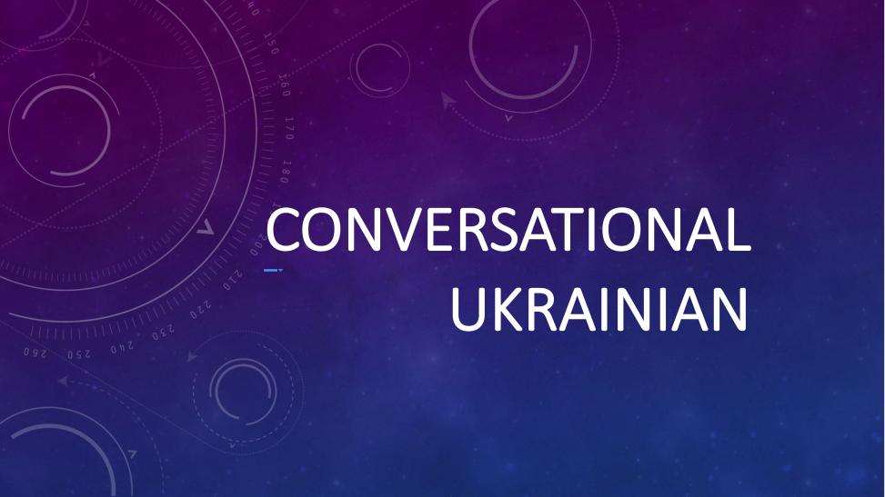Conversational Ukr