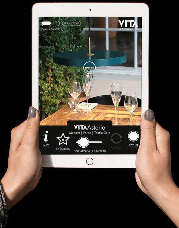 application vita sur ipad pour choisir son éclairage