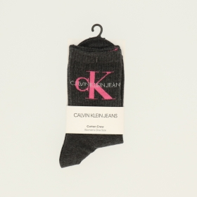 CK WOMEN SHORT SOCK 1P JEANS LOGO B