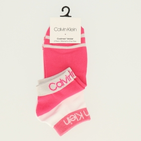 CK WOMEN SHORT SOCK 2P LEGWEAR LOGO